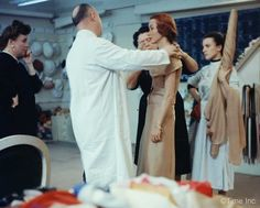 Inside the Dior Studio in March 1957