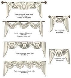 swag and jabot curtains - Google Search