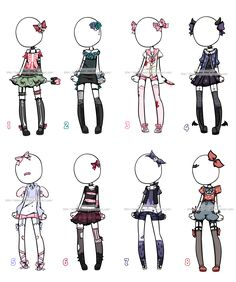 Outfit Adoptables#2 CLOSED by KimmyPeaches.deviantart.com on @DeviantArt