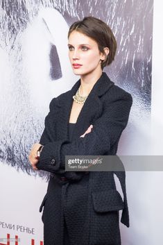"News Photo : Marine Vacth wearing Chanel attends the ""L'Amant. Cut My Hair, New Hair, Hair Cuts, Pixie Hairstyles, Cool Hairstyles, Hair Inspo, Hair Inspiration, Very Short Haircuts, French Girls"