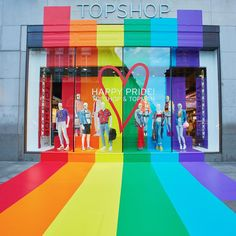 "TOPSHOP, Ocford Street, London, UK, ""We find happiness in Rainbows"", creative by Blacks Visual, pinned by Ton van der Veer"