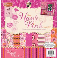 """Haute Pink Paper Stack 12""""x12"""" - Click to enlarge"""