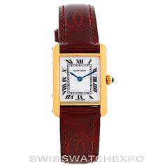 Cartier brand has always represented poise, elegance and timeless beauty without being too over-the-top, so it has remained one of the most popular choices for women everywhere.   Cartier Tank Classic Paris Ladies 18k Yellow Gold Watch