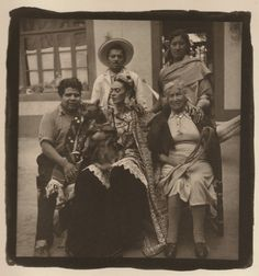 Photo taken shortly before Frida passed, 1954