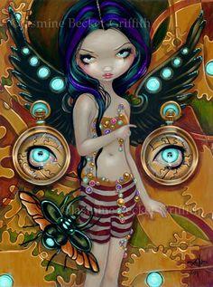 Mechanical Angel III steampunk 3 fairy art print by by strangeling, $13.99