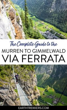 Via Ferrata Murren to Gimmelwald in the Bernese Oberland, Switzerland. #viaferrata #murren #switzerland #adventure