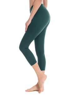 Today Sale $8.66, Buy Women's Running Tights Flex Workout Capris Leggings Yoga Pants with Pockets