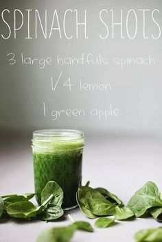 Just blend thoroughly and drink! Benefits of Spinach: 1. Alkalizes the Body 2. Lowers blood Pressure 3. Fights Psoriasis, acne, and wrinkles 4. Fights atherosclerosis, cardiovascular disease, and...