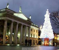 Ireland Christmas, Dublin GPO & Christmas tree photo 2011