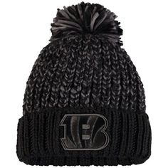 Women s Cincinnati Bengals NFL Pro Line by Fanatics Branded Black Ace Knit  Hat 2ffb55072