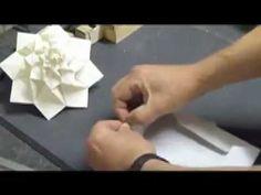 Origami Tutorial - How To Fold A Hydrangea Pt. 1 (Shuzo Fujimoto) - YouTube