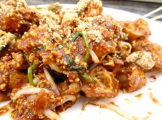 Rojak - This is the freshest tasting salad – crunchy fruit and vegetables with fried tofu in a sweetly sticky, slightly sour dressing, sprinkled with roasted peanuts! http://www.sbs.com.au/food/recipes/rojak Pulled Pork, Tastiest Food, Roasted Peanuts, Tofu, Chicken Wings, Paradise, Vegetarian Food, Delicious Food, Tasty