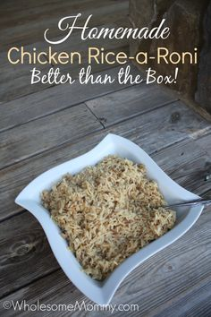 Homemade Chicken Rice a Roni {copycat recipe}