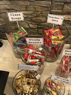 College graduation themed candy bar!