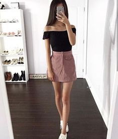Skirt outfits aesthetic New ideas Beauty And Fashion, Fashion Mode, Cute Fashion, Korean Fashion, Womens Fashion, Moda Fashion, Vintage Fashion, Fashion Trends, Trendy Fashion