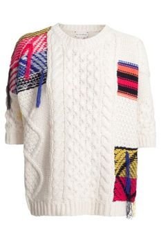 patchwork knitwear- Isabel Marant inspired