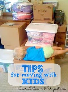tips for moving with kids. Look down the list for some good kid moving day advice. Repinned by VeroBeachHomeFinders.com.
