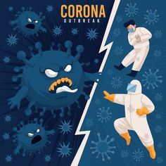Corona Outbreak Let's Stop Coronavirus with our real super Heroes like Doctors, Nurses, Policemen and all are which are connected actively with us. Corona Vs Our SuperHeroes Creative Poster Design, Creative Posters, Design Plano, Cute Illustration, Design Reference, Free, Collage Art, Vector Art, Art Drawings