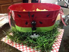 how to make pink tub look like watermelon Watermelon Patch, Watermelon Crafts, Watermelon Baby, Watermelon Ideas, Watermelon Painting, Watermelon Photo Shoots, Watermelon Images, Watermelon Centerpiece, Picnic Themed Parties
