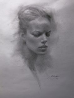 drawing sketching pencil black and white portrait women