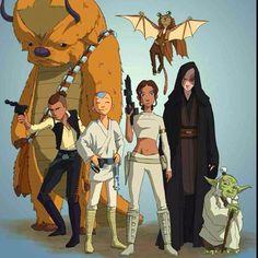 Avatar the Last Airbender meets Star Wars