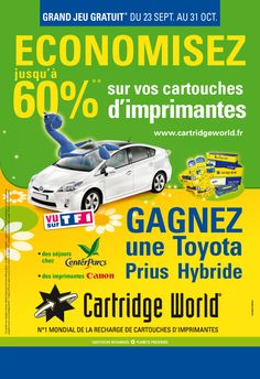 Cartridge World. Agence conseil en communication Binome Nîmes Montpellier.
