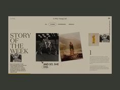 Hello friends, This is another piece of the beloved website design project called A+WQ / Young Lab. Today, it is a stories page animation. Eager to hear your feedback! Website Layout, Web Layout, Layout Design, Website Ideas, Website Designs, Website Design Inspiration, Graphic Design Inspiration, Design Graphique, Art Graphique