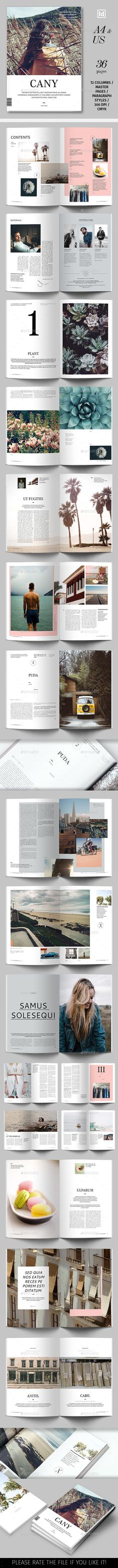Cany Magazine Template — InDesign INDD #editorial #magazine • Download ➝ https://graphicriver.net/item/cany-magazine-template/19410909?ref=pxcr