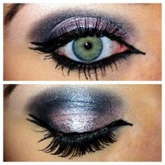 PRODUCTS USED: UDPP Urban Decay eye shadows in grifter,gunmetal,blackout and zephyr. Urban Decay liquid liner in perversion Urban Decay 24/7 pencil in Zero Urban Decay heavy metal glitter liner in glam rock 17 peep show mascara lashes from ebay.