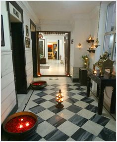 The Checkered Entryway Reminds Me Of My Aunts House In Kolkata