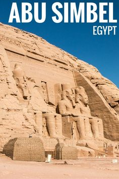 Discover the Abu Simbel temples in the south of Egypt. Two massive temples in honour of Ramesses II and Nefertari. Abu Simbel is a World Heritage site.