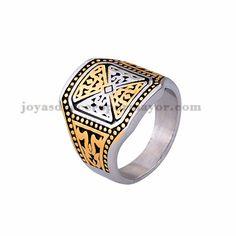 anillo de image geometria especial en acero plateado inoxidable -SSRGG371786