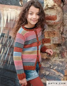 pattern knit crochet kids jacket autumn winter katia 6951 1 g Winter Kids, Fall Winter, Autumn, Crochet For Kids, Knit Crochet, Knitting Patterns Free, Free Pattern, Lana, Spring Summer