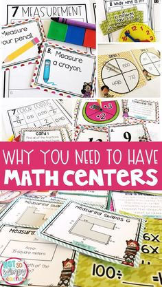 I am super pumped about this math center blog post series!  Part One: Why You Need to Have Math Centers Part Two: Math Center Activ...