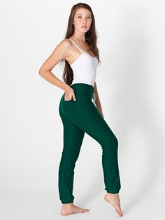 American Apparel - Unisex Salt and Pepper Sweatpant Barefoot Girls, Vintage Green, Salt And Pepper, American Apparel, Fitness Models, Women Accessories, Boyfriend, Jumpsuit, Sweatpants