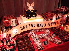 Trendy birthday party themes for kids boys dessert tables ideas Magic Birthday, 1st Birthday Themes, Kids Party Themes, 6th Birthday Parties, Party Ideas, Birthday Ideas, Birthday Decorations, Magician Party, Magic Theme