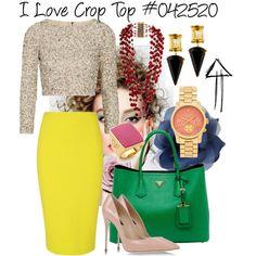 I Love Crop Top #042520 by fashionhuntergirl on Polyvore featuring Alice + Olivia, Dolce&Gabbana, Michael Kors, Rosantica, Diane Von Furstenberg, Prada, croptop and 042520