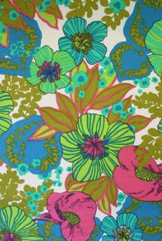 Items similar to Vintage Fabric Squares Flowers Bright Tropical 6 Inches Retro Sheet Fabric Sewing Quilting on Etsy Motifs Textiles, Textile Patterns, Textile Prints, Print Patterns, Fabric Wallpaper, Pattern Wallpaper, Wallpaper Backgrounds, Wallpapers, Iphone Wallpaper