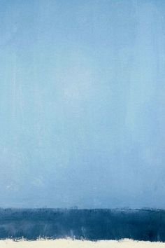 Mark Rothko....I don't usually like abstract art but I see the colors of the ocean and the sky in this one....almost like the most minimal depiction of a day at the beach