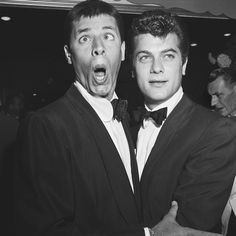 Jerry Lewis & Tony Curtis. I had the biggest crush on Tony Curtis when I was small.