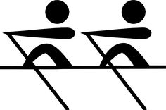 Olympic Sports Rowing Pictogram clip art - vector clip art online ...