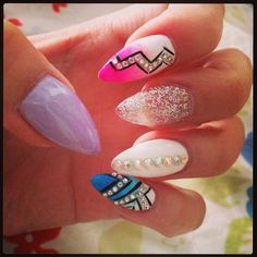 The beauty of nails Get Nails, Love Nails, Hair And Nails, How To Do Nails, Gorgeous Nails, Pretty Nails, Cute Nail Art, Creative Nails, Stiletto Nails