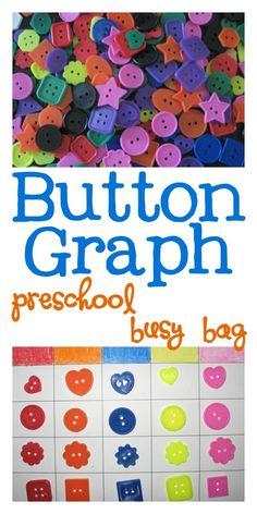 Preschool Busy Bag Button Graph Activity from Walking by the Way