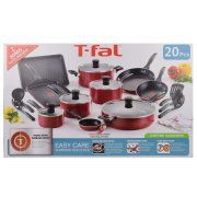 T-fal 20pc Red Easy Care Cookware Set Walmart Home, Cookware Set, Measuring Cups, Easy, Red, Measuring Cup, Measuring Spoons