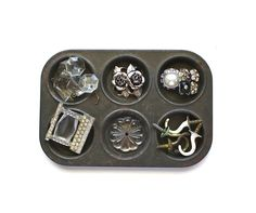 Treasure Tray ~ Vintage Small Muffin Tray With Findings ~ via Etsy x