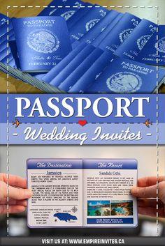 ☀️ Blue passport wedding invitations for a destination wedding in Mexico! Wedding Invitations Canada, Passport Wedding Invitations, Wedding Invitation Design, Wedding Stationary, Cruise Ship Wedding, Punta Cana Wedding, Wedding Abroad, Love Is In The Air, Mexico