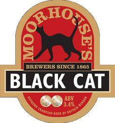Black Cat es una cerveza inglesa de la cervecera Moorehouse.