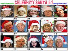 Celeb Santa Christmas Picture Quiz, Christmas Quiz, Gavin Henson, Aston Kutcher, Jason Manford, Noel Edmonds, Christine Bleakley, Marvin Humes, Joey Essex