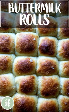 No-Knead Buttermilk Pull-Apart Rolls — so easy and delicious! Soft and squishy, slightly sweet, these buttermilk rolls are perfect for any holiday gathering, but Thanksgiving in particular. Make the dough a day in advance to get a jumpstart on preparations. #noknead #buttermilk #rolls #bread #easy #thanksgiving #overnight