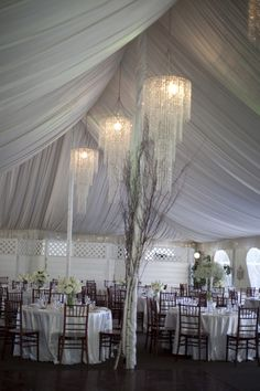 Beautiful Draped Ceilings & Chandeliers